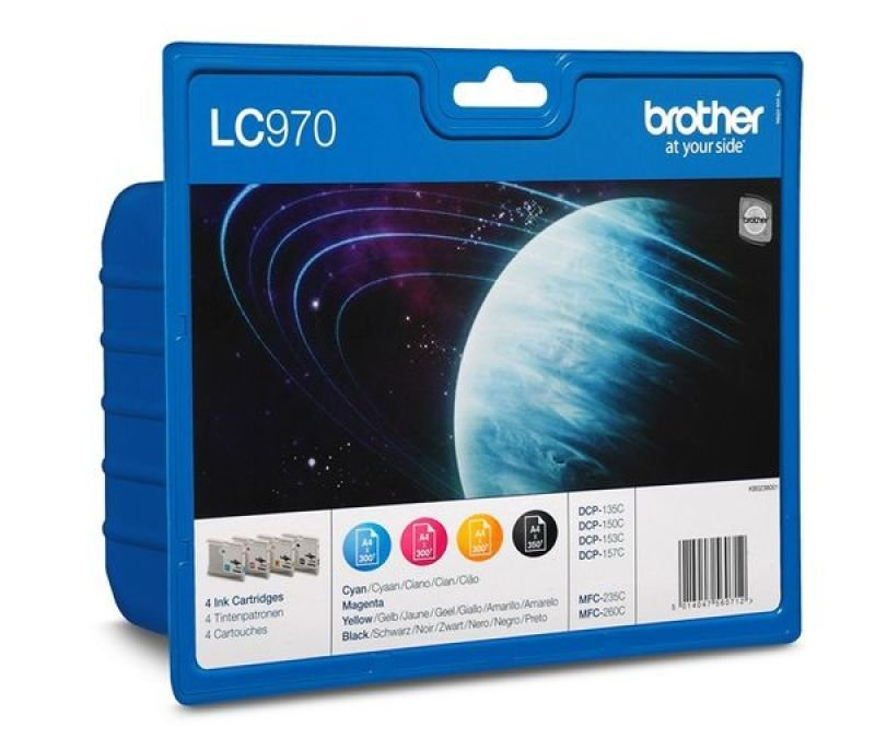 Brother LC970VALBP Colour Ink Cartridge - Multi-Pack