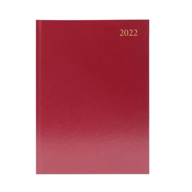 Desk Diary Wtv A4 Burgundy 2022