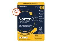 Norton 360 Premium - Subscription Licence (1 Year) - 10 Devices