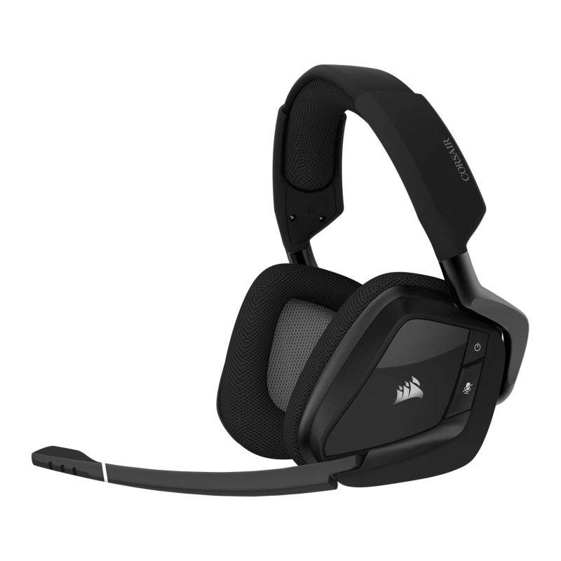 EXDISPLAY Corsair VOID ELITE RGB Stereo/7.1 Carbon Wireless Gaming Headset - Refurbished by Corsair