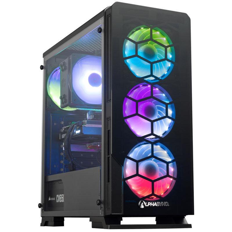 Image of AlphaSync Gaming Desktop PC AMD Ryzen 7 3700X 3.6GHz, 16GB RAM, 2TB HDD, 500GB SSD, RTX 3060, Windows 11 Home