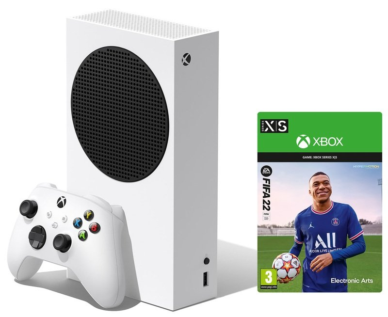 Xbox Series S Console with FIFA 22 Standard Edition