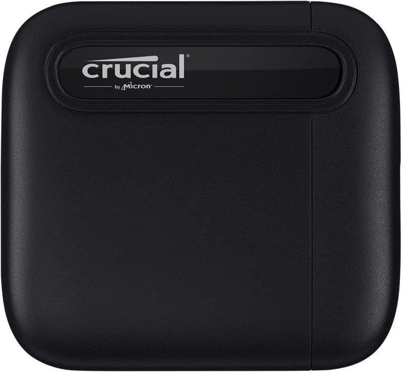 Crucial X6 500GB External Portable SSD - Black