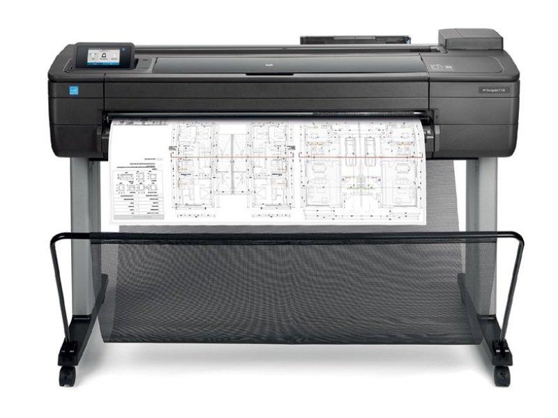 "EXDISPLAY HP DesignJet T730 36"" A0 Wireless Large Format Inkjet Printer"