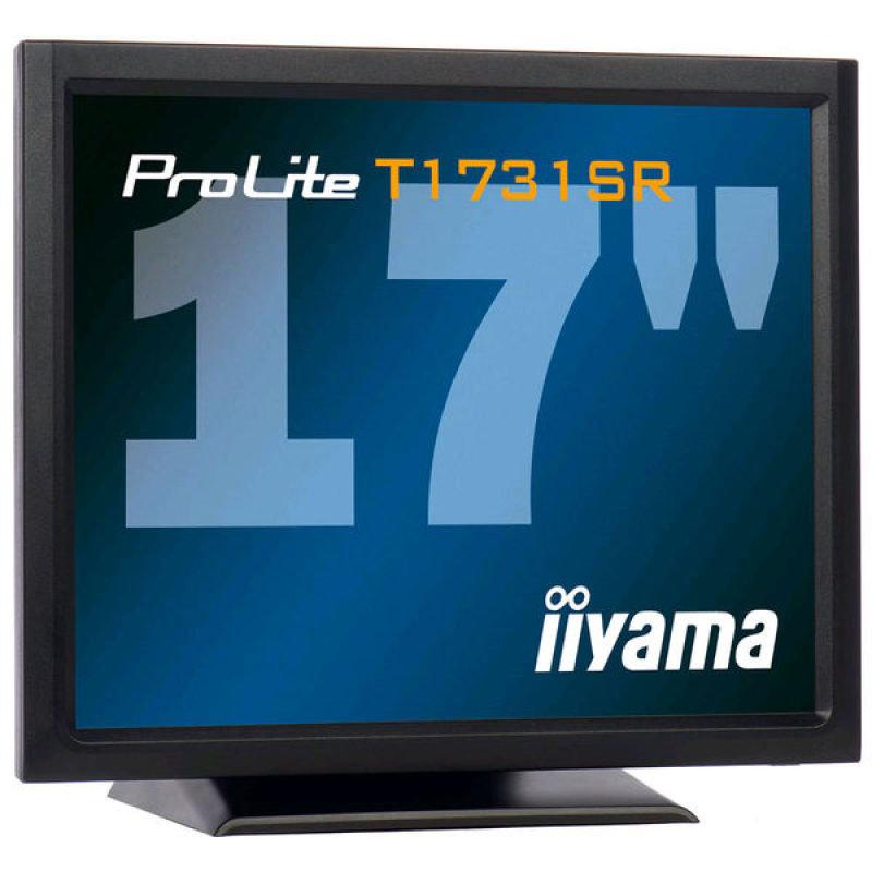 Iiyama T1731SR LCD TFT Touch Screen 17&quot DVI Monitor  Black