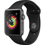 Apple Watch SE GPS, 40mm Space Grey Aluminium Case with Midnight Sport Band - Regular