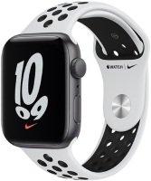 Apple Watch Nike SE GPS + Cellular, 44mm Silver Aluminium Case with Pure Platinum/Black Nike Sport Band - Regular