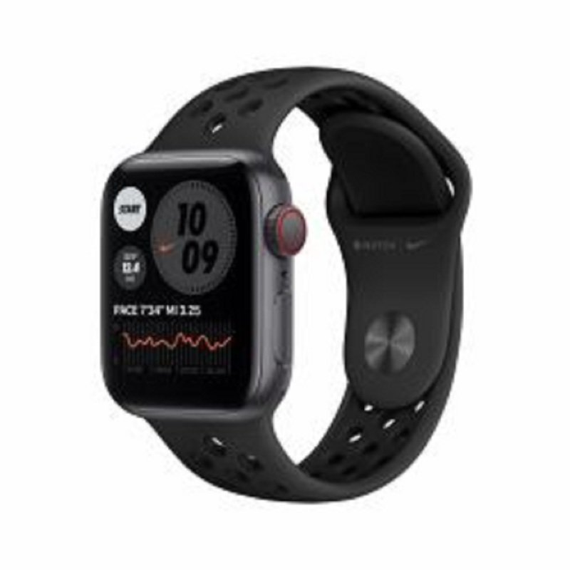 Apple Watch Nike SE GPS + Cellular, 44mm Space Gray Aluminium Case with Anthracite/Black Nike Sport Band - Regular
