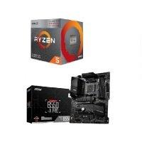 EXDISPLAY MSI B550-A PRO DDR4 ATX Motherboard + AMD Ryzen 5 5600G AM4 Processor Bundle