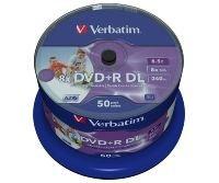 Verbatim 8x DVD+R DL Inkjet Printable Discs - 50 Pack