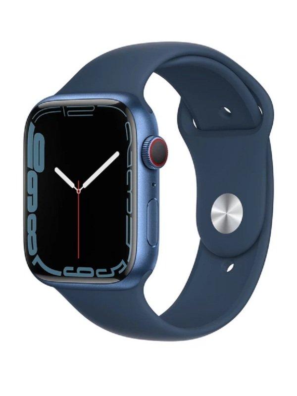 Apple Watch Series 7 GPS + Cellular, 45mm Blue Aluminium Case with Abyss Blue Sport Band - Regular