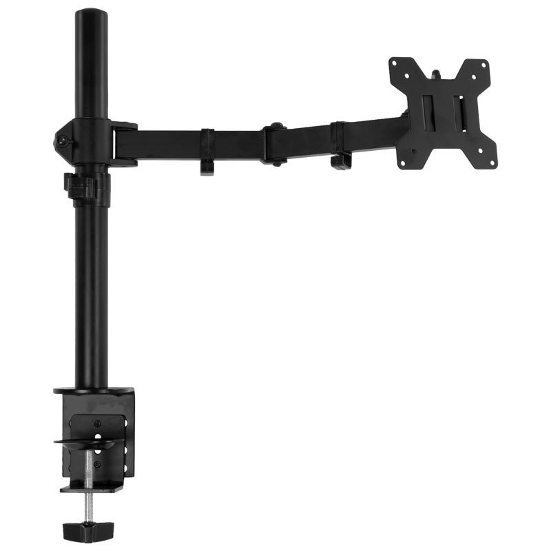 """Xenta Single Monitor Mount for 13"""" - 32"""" Screens Single Arm Desk Stand Bracket with Clamp"""
