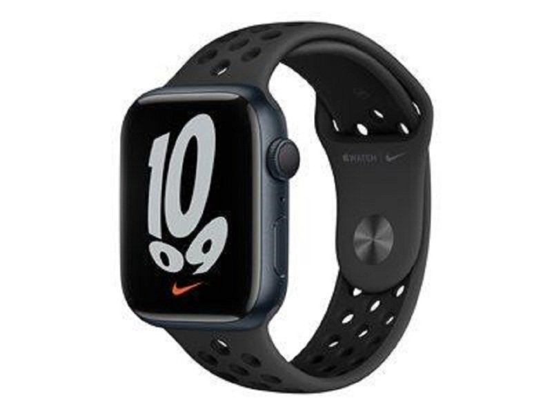 Apple Watch Nike Series 7 GPS, 45mm Midnight Aluminium Case with Anthracite/Black Nike Sport Band - Regular