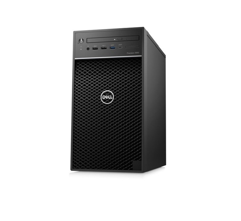 Image of Dell Precision 3000 3650 Workstation - Intel Core i5 Hexa-core (6 Core) i5-10505 10th Gen 3.20 GHz - 8 GB DDR4 SDRAM RAM - 256 GB SSD - Tower - Intel W580 Chip - Windows 10 Pro 64-bit - Intel Graphics - DVD-Writer - Serial ATA/600 Controller - English (UK