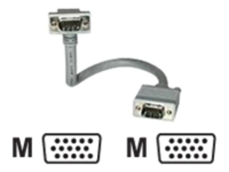 C2G, Premium Shielded HD15 M/M SXGA 90° Down Angled Monitor Cable, 2m