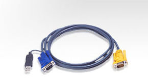 ATEN 2L-5202UP - Keyboard / video / mouse (KVM) Cable 1.8m
