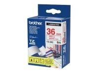 Brother TZe 262 Laminated tape- Red on white
