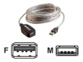 C2G, USB A Male to A Female Active Extension Cable 5m