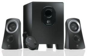 Logitech Z313 2.1 Speaker System with Wired Control Pod Remote - 25W RMS