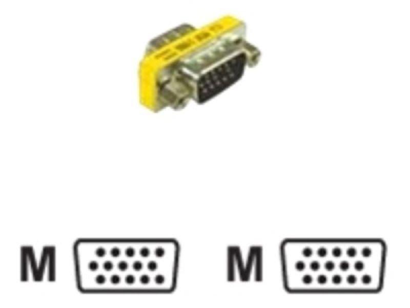 C2G, HD15 VGA M/M Mini Gender Changer