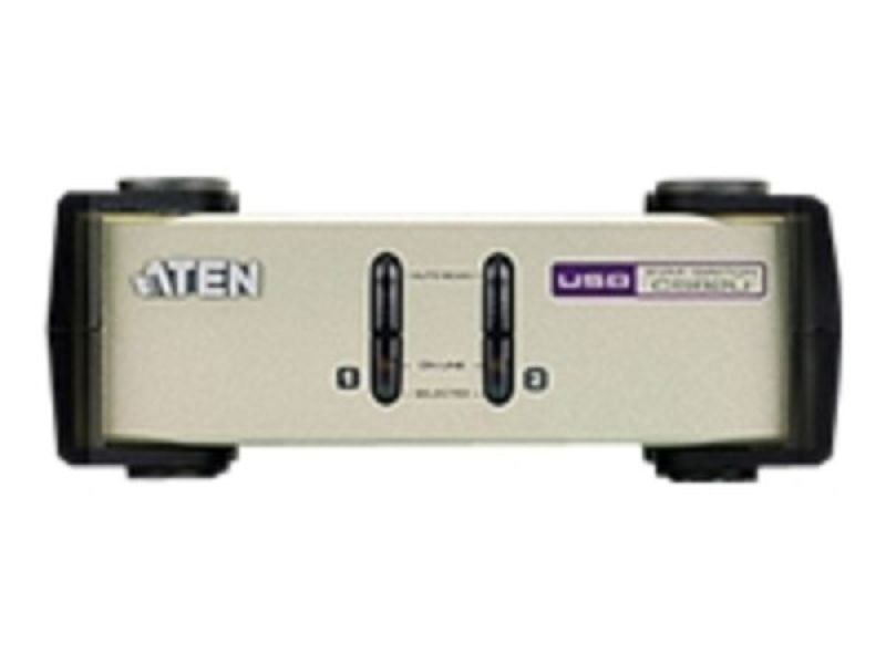 Aten 2 port Desk-top PS/2 & USB KVM Switch (2 KVM Cables included)