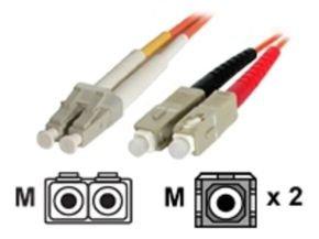 3m Multimode 62.5/125 Duplex Fiber Patch Cable LC - SC