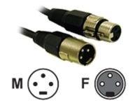 C2G, Pro-Audio XLR Male To XLR Female, 0.5m