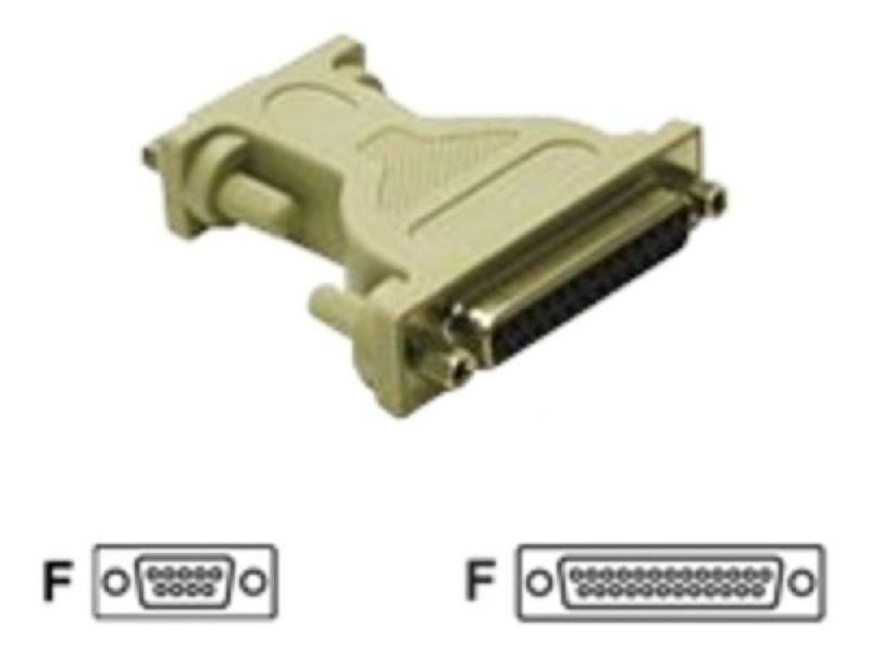 C2G, DB9F to DB25F Null Modem Adapter