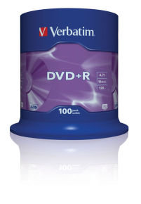 Verbatim 16x DVD+R Discs - 100 Pack Spindle