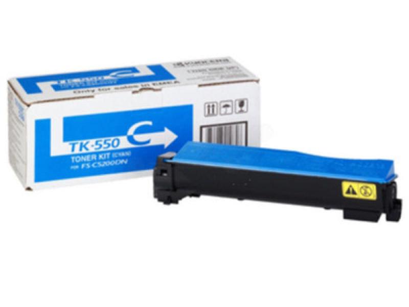 Kyocera TK 550C Cyan Toner Cartridge
