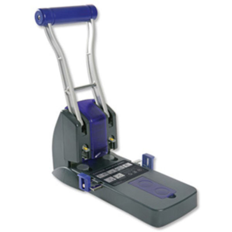 Rapesco P2200 Heavy Duty 2-Hole Punch (150 Sheets) (black / purple)