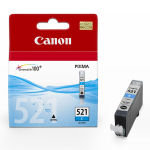 Canon CLI-521C Cyan Ink Cartridge - 505 Pages - 2934B001