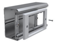 VISION TECHCONNECT EUROPEAN TRUNKING ADAPTOR Allows the Techconnect surrounds (single and double)  to fit to a variety of european Dado rail sizes.