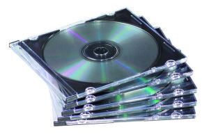 Fellowes Slimline CD/DVD Jewel Case - 25pk