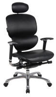 HH Solutions Ergonomics4Work Wave Full Leather Chair - Black