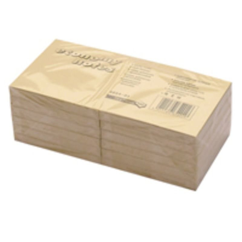 Image of Extra Value Yellow 75x75mm Repositional Notes - 12 Pack