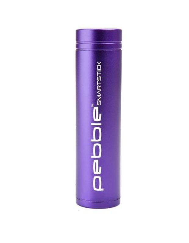 Image of Veho VPP-002-SSM Pebble Smartstick Emergency Portable Mobile Phone Battery Back Up Power 2200mah Purple