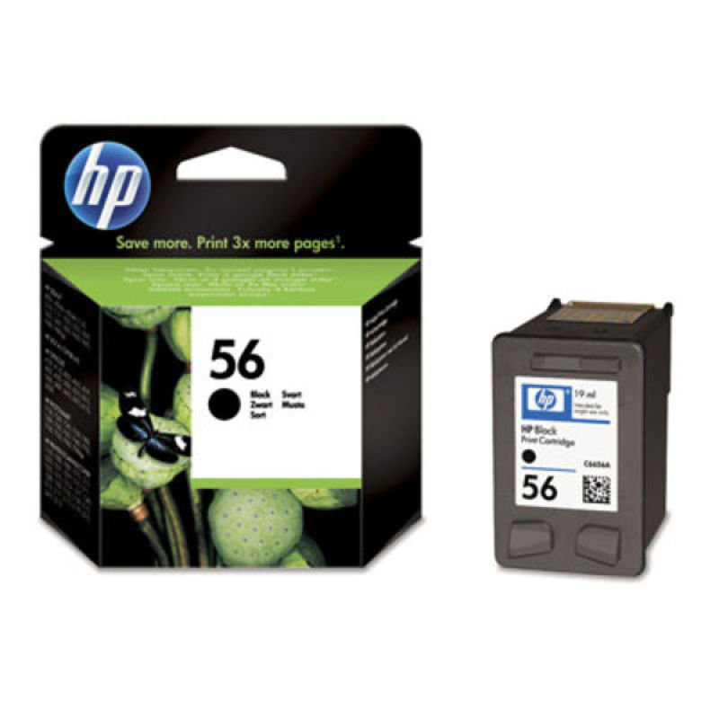 HP 56 Black Ink Cartridge - C6656AE