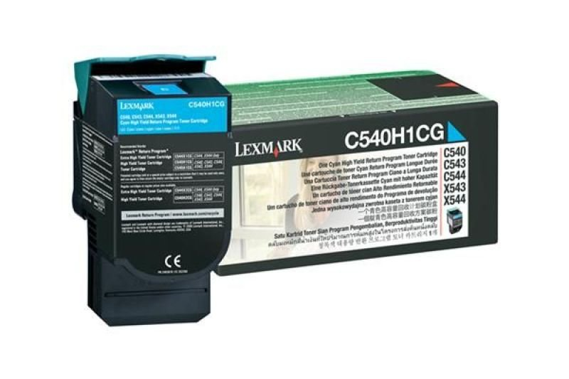 Lexmark C540 High Yield Cyan Toner - 2000 Pages
