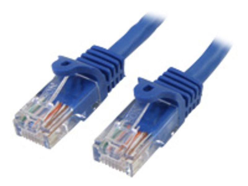 StarTech.com Cat5e Ethernet Cable 1,5 m - Blue - Patch Cable - Snagless Cat5e Cable