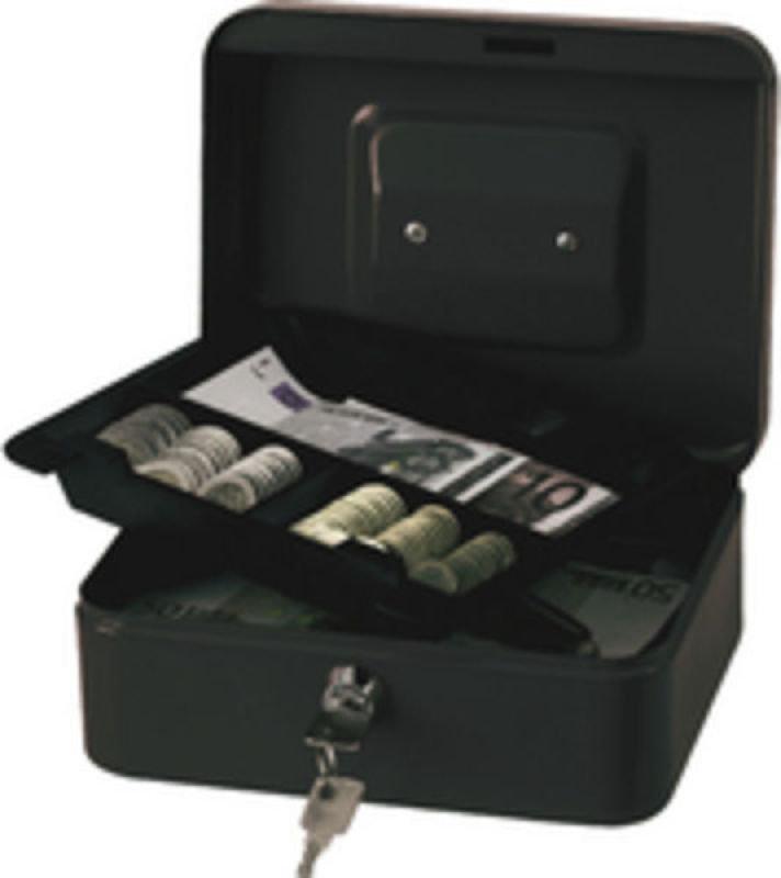 Q Connect 8 Inch Cash Box - Black