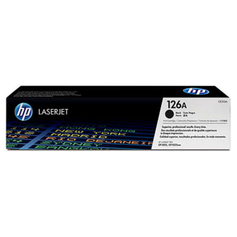HP 126A Black Dual Pack Toner Cartridges - CE310AD