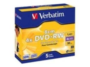 Verbatim 8cm DVD+RW 1.4GB 5pk Slim Case