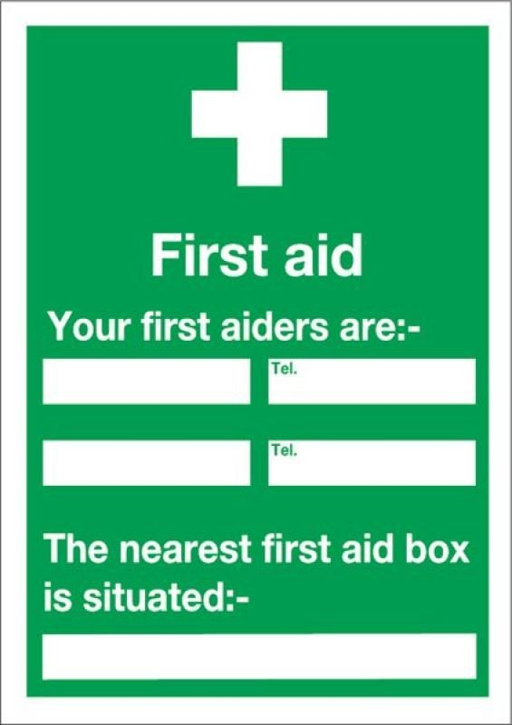 FIRST AID AND YOUR 600X450MM PVC E91A/R
