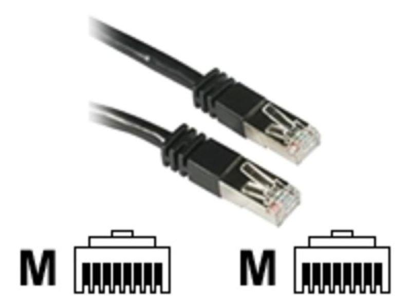 C2G,  Shield CAT5E Moulded Patch cable black, 20m