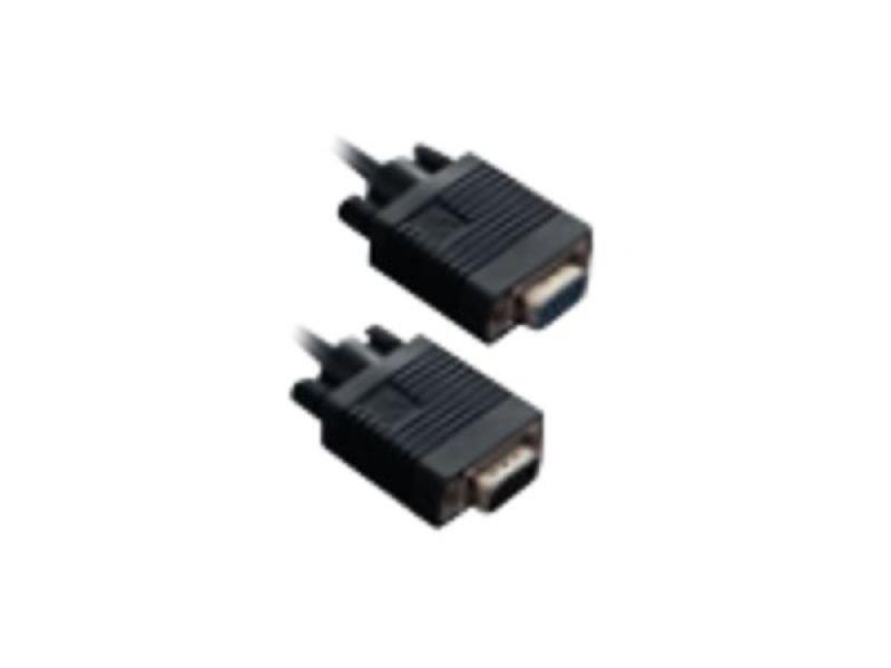 V7 VGA Extension Cable 3 HDDB15 (m/f) black 3m