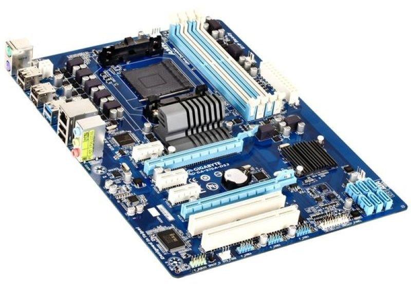 Gigabyte GA-970A-DS3 Socket AM3+ 7.1 Channel Audio ATX Motherboard