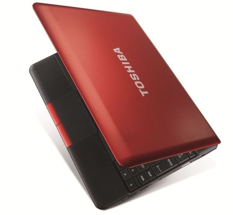 "Toshiba Nb510-11j Netbook, Intel Atom N2600 1.6ghz, 1gb Ram, 320gb Hdd, 10.1"" Led, Noopt, Intel Gma, Webcam 9hrs Battery, Red, Windows 7 Starter"