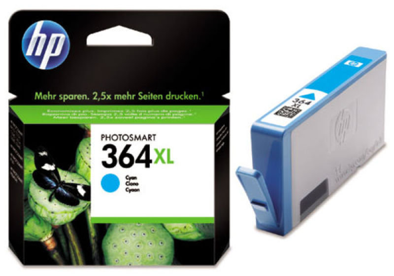 *HP 364XL High Yield Cyan Original Ink Cartridge