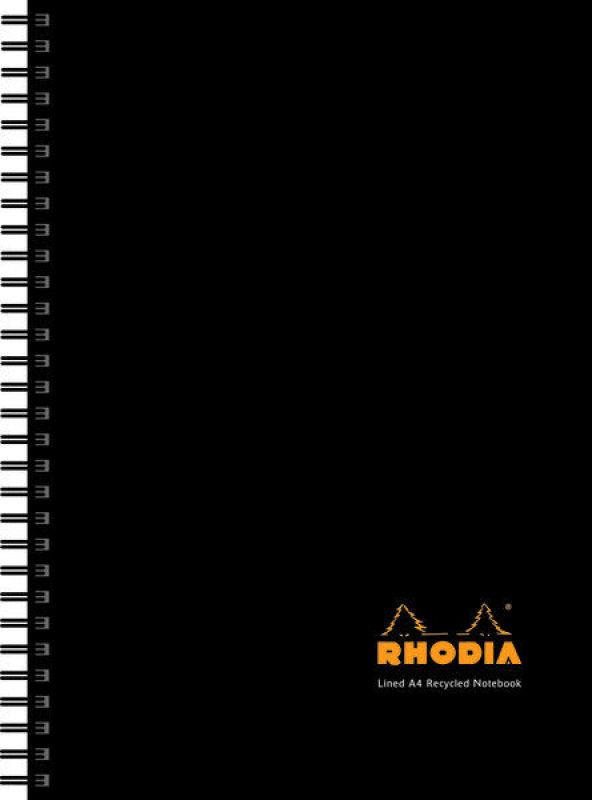 Rhodia Business Book A4 Wirebound Hard Back Notebook Black - 3 Pack